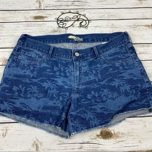 Old Navy Jean Shorts Women's 10 The Diva Tropical